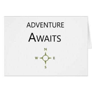 Adventure Awaits Wee One BEAUTIFUL Card