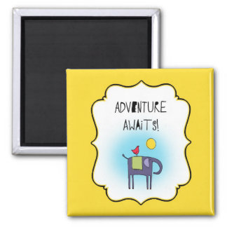 Adventure Awaits Whimsical Design Magnet