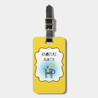 Adventure Awaits Whimsical Luggage Tag