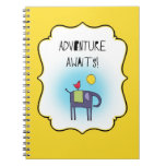 Adventure Awaits Whimsical Notebook