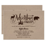 Adventure Awaits Wilderness Baby Shower Invitation