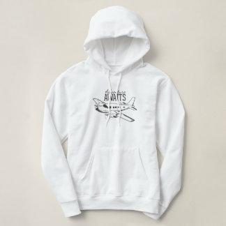 """Adventure Awaits"" Women's Hooded Sweatshirt"