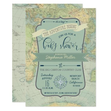 Toddler & Baby themed Adventure Baby Boy Shower Invitations