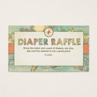 Adventure Baby Shower Diaper Raffle Card Travel