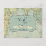 "Adventure Baby Shower Thank You Cards<br><div class=""desc"">Say thanks in style with these vintage map baby shower thank you cards</div>"