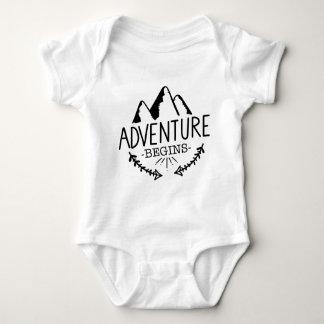 Adventure Begins Baby Bodysuit