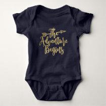 Adventure Begins Baby Onsie Baby Bodysuit