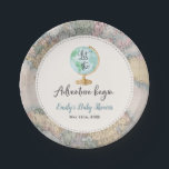 "Adventure Begins Baby Shower Paper Plate 7&quot;<br><div class=""desc"">Adventure Begins Baby Shower 7&quot; Paper Plate. 