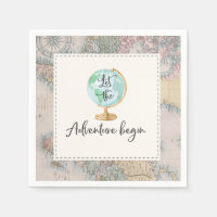 Adventure Begins Baby Shower Party Napkin