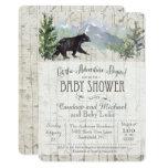Adventure Begins Bear Birch Baby Shower Invitation