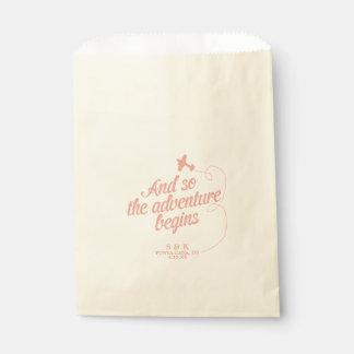 Adventure Begins | Destination Wedding - Pink Favor Bag