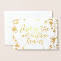 Adventure Begins | Gold Foil Card