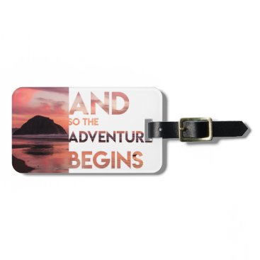 Beach Themed Adventure Begins Luggage Tag