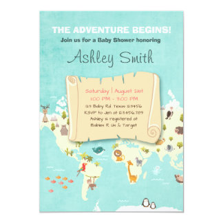 adventure invitations & announcements | zazzle, Baby shower invitations