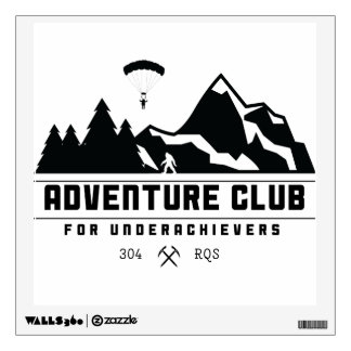 Adventure Club for Underachievers wall decal