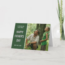 Adventure Dad | Green Photo Happy Father's Day Card