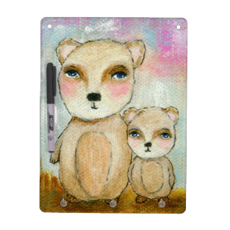 Adventure Day Woodland Bear Art Painting Dry-Erase Board