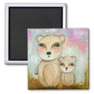 Adventure Day Woodland Bear Art Painting Magnet
