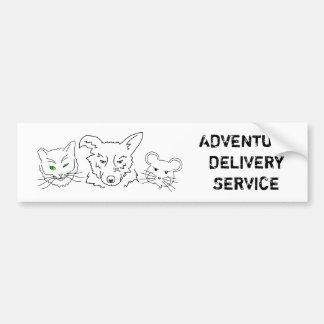 Adventure Delivery Service Customizable Bumper Sticker