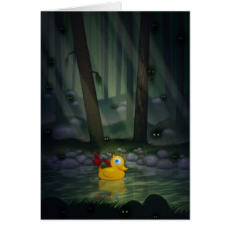 Adventure Duck in the Dark Forest Card