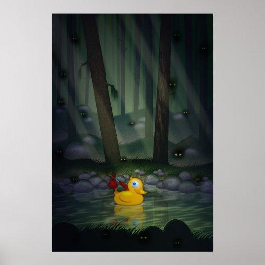 Adventure Duck in the Dark Forest Poster