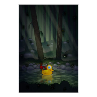 Adventure Duck in the Dark Forest Posters