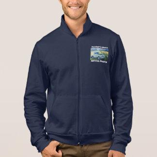 """Adventure Fleece Jacket. """"Weather's Liberty"""" Motto Printed Jacket"""