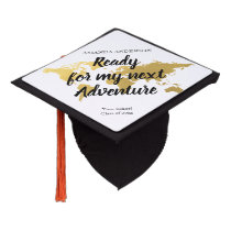 Adventure fun world map graduation cap topper