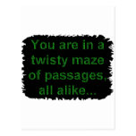 Adventure game- twisty maze post cards
