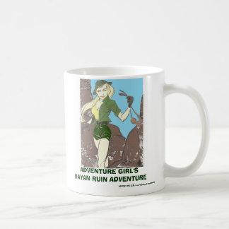ADVENTURE GIRL'S MAYAN RUIN ADVENTURE COMIC COFFEE MUG