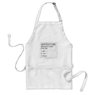 Adventure Instructions Adult Apron