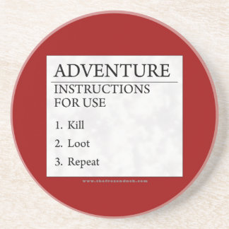 Adventure Instructions Beverage Coasters