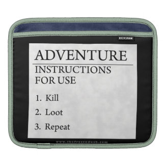 Adventure Instructions Sleeves For iPads