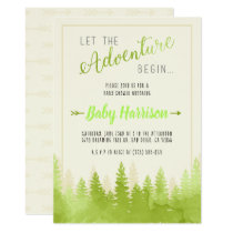 Adventure Invitation Baby Shower Sip and See Tree