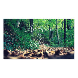Adventure is calling business card