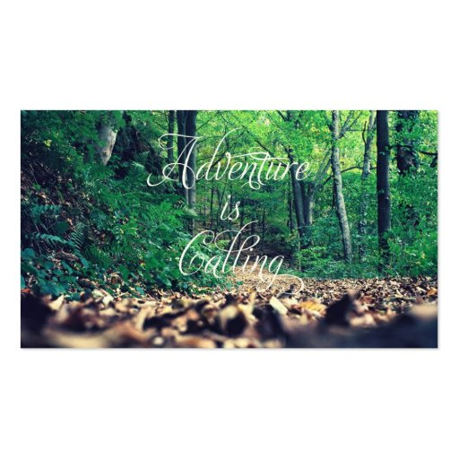 Adventure is calling business cards