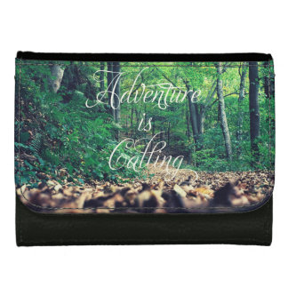 Adventure is calling leather wallet for women