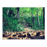 Adventure is calling post card