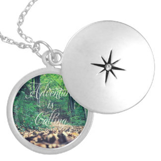 Adventure is calling silver plated necklace