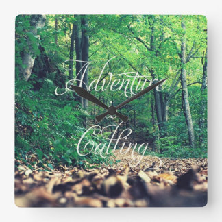 Adventure is calling square wall clock