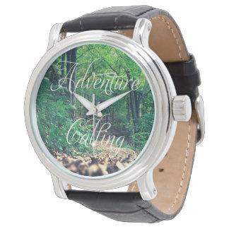 Adventure is calling wristwatch