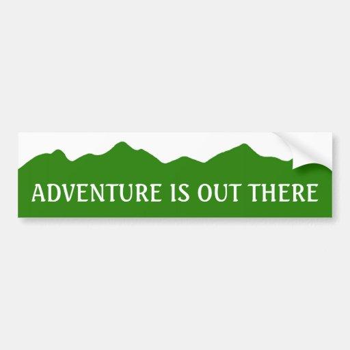 Adventure Is Out There Bumper Sticker Car Bumper Sticker