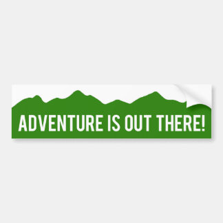 Adventure Is Out There! Mountains Bumper Sticker
