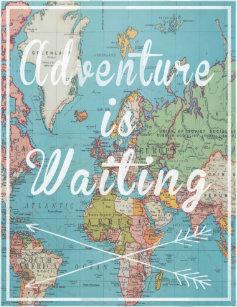 Wanderlust Map Posters & Photo Prints | Zazzle