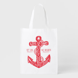 Adventure is Waiting Tote Bag Market Totes