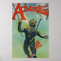 Adventure magazone cover poster