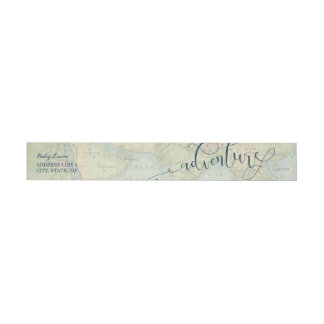 Adventure Map Wrap Around Return Address Label