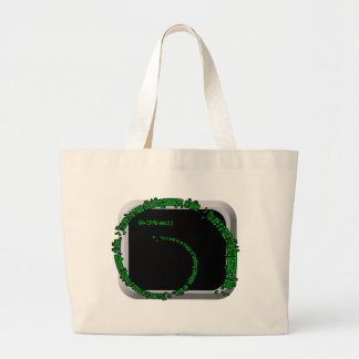 Adventure: maze of passages large tote bag