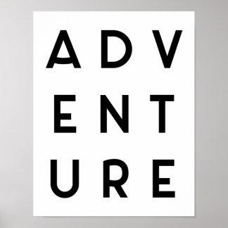 Adventure Minimalist Quote Poster
