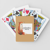 adventure more fox bicycle playing cards